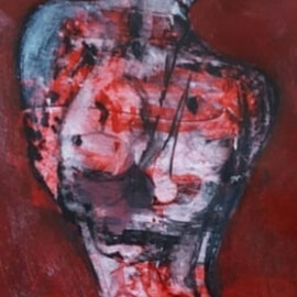 mournful - 2015 - 20x40 cm - Acryl auf Papier - in Privatbesitz