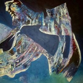 Liaison - 2013 - Acryl auf Leinwand - 100x100x3,8cm -(bemalte Außenseiten) - in Privatbesitz