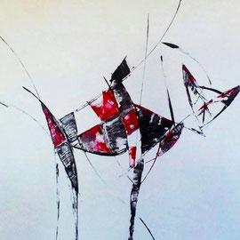 kitty smuel - 2011 - Acryl auf Leinwand - 50x50x3,8cm - in Privatbesitz