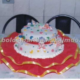 Bolo Palhaço 3 (Pasta Americana)