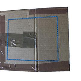 Marca tres lados de la caja para luejo hacer los cortes