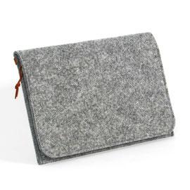 Tablet-/Dokumenten-Hülle hellgrau