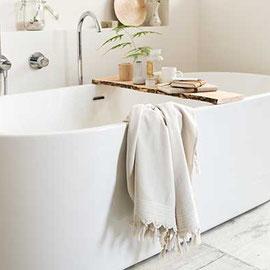 Hamamdoek en bad