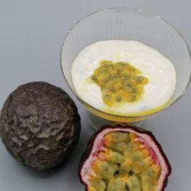 Quarkcreme mit Passionsfrucht, glutenfrei