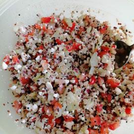 Quinoa Salat mit Feta, glutenfrei