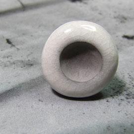 bague céramique noire et blanche