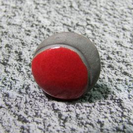 bague céramique rouge et noire