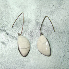 boucles d'oreilles céramique raku