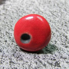 bague rouge en terre cuite