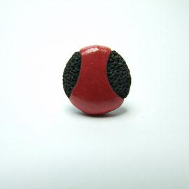 acheter bague createur ceramique rouge noir