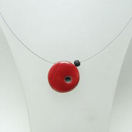 collier pointé rouge artisanal