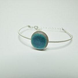 acheter ce bracelet artisanal en céramique raku bleu