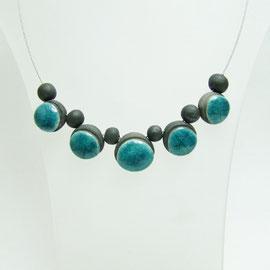 voir la description du ce collier de perle en céramique raku
