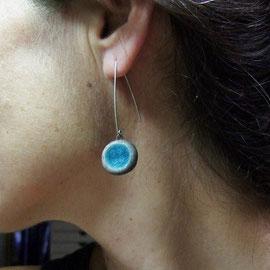 acheter les boucles d'oreilles raku