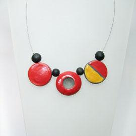 fiche produit du collier bicoore ceramique raku