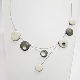 collier céramique blanc