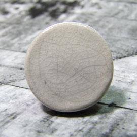 Bague plate blanche en céramique