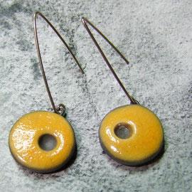 Boucles d'oreilles jaunes  et noires