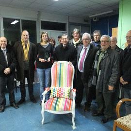 Les reponsables de la Chambre et les élus avec Emilie Hénert