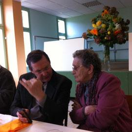Grande discussion avec Mme Bréhier, notre si jeune centenaire