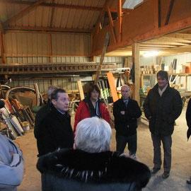 Visite de l'entreprise Cudelou, couvreurs à Saint-Pois