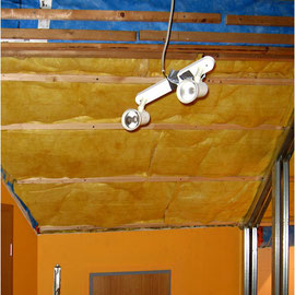 Verkleidung der Dachschräge mit Untersparrendämmung