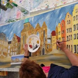 Realistische Acrylmalerei. Malen nach Fotovorlage, Stadt Osnabrück