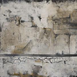 Mauerwerk, Acryl auf Leinwand, 100 cm x 100cm (Verkauft)
