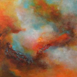 "Acrylbild auf Leinwand, ""Farbwelten"" 90 cm x 110 cm"