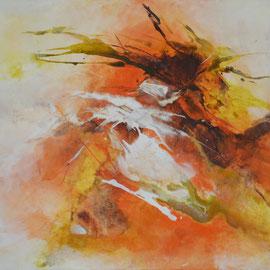 """Acrylbild auf Leinwand, """"Herbsttanz"""" 50 cm x 70 cm"""