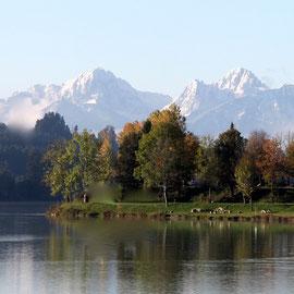 Lechsee und Berge im Herbst
