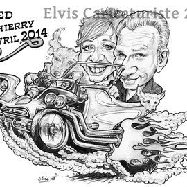 Caricature faire-part - Elvis caricaturiste