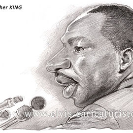 Caricature Martin Luther King