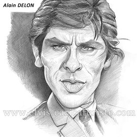 Caricature Delon