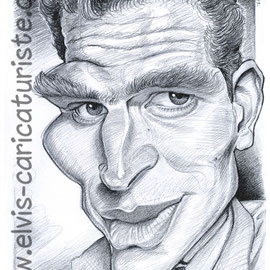 Caricature Charlton Heston