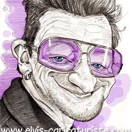 Caricature de Bono