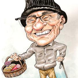 Caricature papi - Elvis caricaturiste