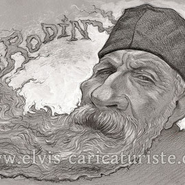 Caricature Rodin