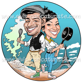 Caricature food-truck - Elvis caricaturiste