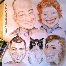 Caricature famille
