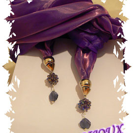 Art. 200 - Sciarpa o stola di seta viola-oro!
