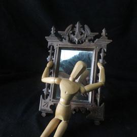 1698 miroir forte noire