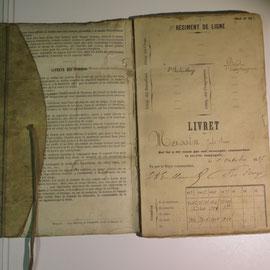 livret militaire  de 1887 ref 8258