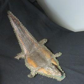1718 crocodile sur feutre