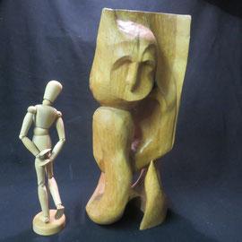 ref 1376 sculpture bois abstraite