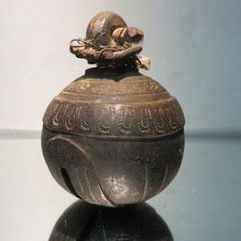 grelot d'éléphant bronze Birmanie....BURMESE ELEPHANT BELL BRASS ref 7464
