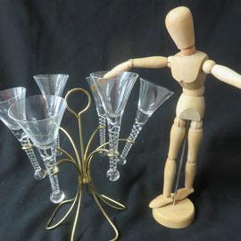 1800 arbre à coupe de champagne de mariage cristal