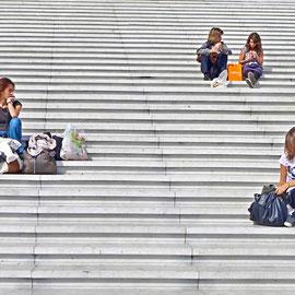 """Sit in"", La Defence, Paris"