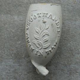 GROOTHANDEL TABAK IN BLADEN, ca 1870-1900, hielmerk 54 gekroond
