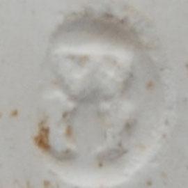 Gevonden in stort aan de Vest in Gouda, ca 1870-1890. Tezamen met veel GML, WS, M, 84, Melkmeid, Koning David, 73, 27, 52, 51